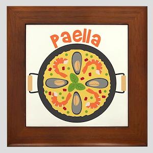 Paella Framed Tile