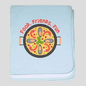 Food Friends Fun baby blanket