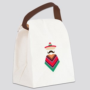 Mexican Man Canvas Lunch Bag