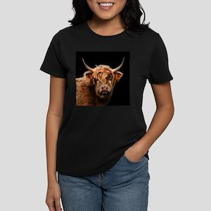 Highland Cow Portrait In Colour T-Shirt