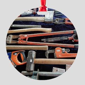 Tools Round Ornament