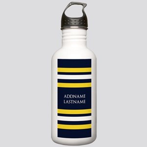 Nautical Blue and Yell Stainless Water Bottle 1.0L