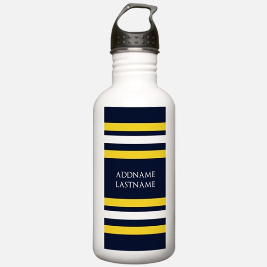 Nautical Blue and Yell Water Bottle