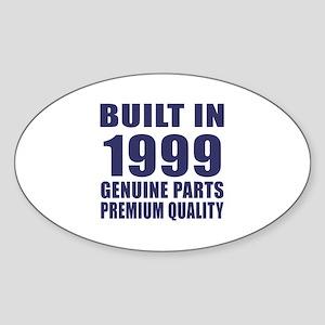 Built In 1999 Sticker (Oval)