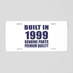 Built In 1999 Aluminum License Plate