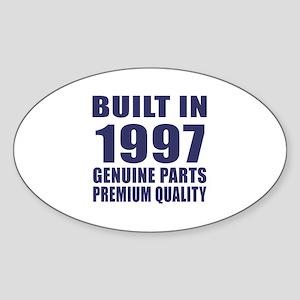 Built In 1997 Sticker (Oval)