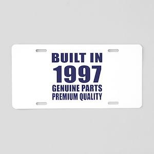 Built In 1997 Aluminum License Plate
