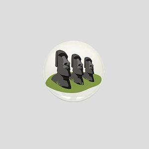Easter Island Mini Button