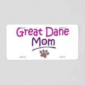 Great Dane Mom Aluminum License Plate