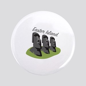 Easter Island Button