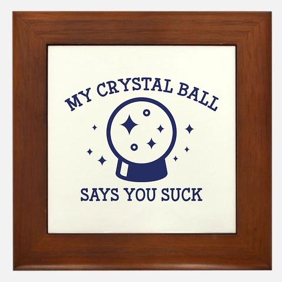 My Crystal Ball Framed Tile