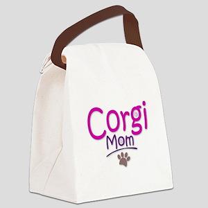 Corgi Mom Canvas Lunch Bag