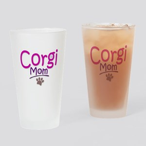 Corgi Mom Drinking Glass