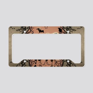 Cute fairy silhouette License Plate Holder