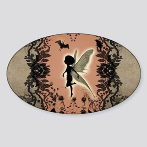 Cute fairy silhouette Sticker