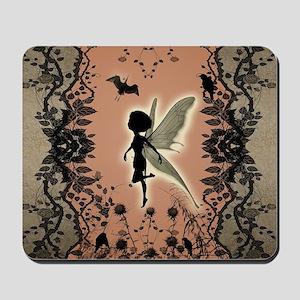 Cute fairy silhouette Mousepad