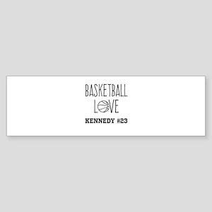 Basketball Love Personalized Bumper Sticker