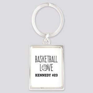 Basketball Love Personalized Keychains