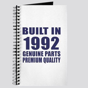 Built In 1992 Journal