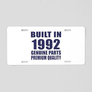 Built In 1992 Aluminum License Plate