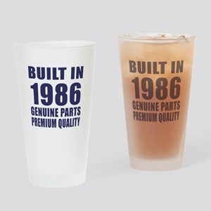 Built In 1986 Drinking Glass