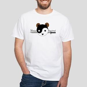 Ninja Squirrel White T-Shirt