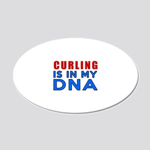 Curling Is In My DNA 20x12 Oval Wall Decal