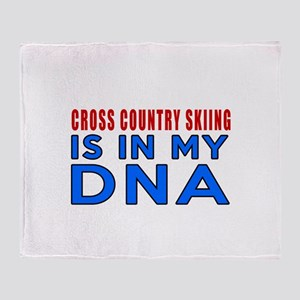 Cross Country Skiing Is In My DNA Throw Blanket