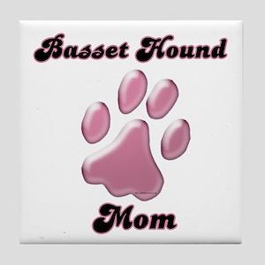 Basset Hound Mom3 Tile Coaster