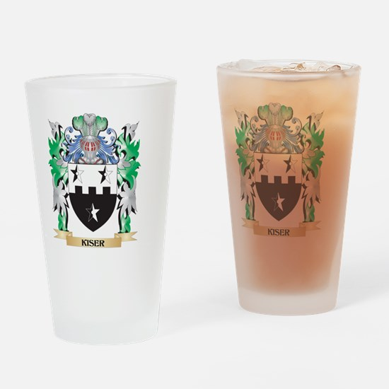 Kiser Coat of Arms - Family Crest Drinking Glass