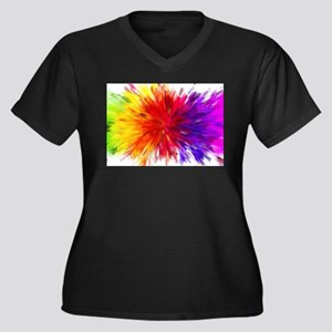 abstract colors Plus Size T-Shirt
