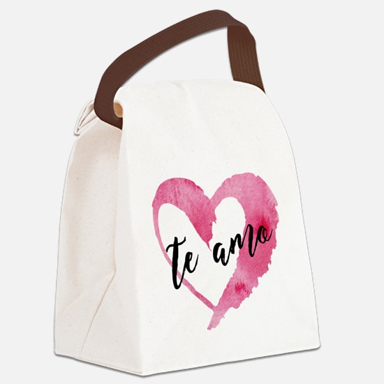 Cute Sayings Canvas Lunch Bag