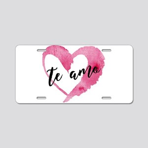 I Love You - Spanish Aluminum License Plate