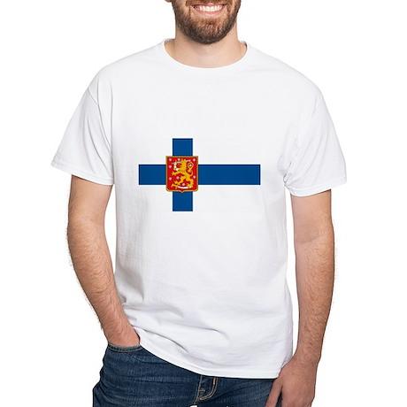 Finland Flag Black T-Shirt