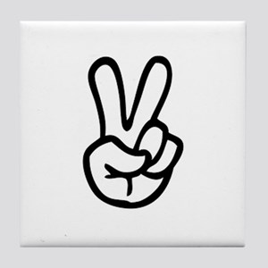 VEE FOR VICTORY! - TWO FINGERED SALUT Tile Coaster