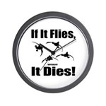 If It Flies, It Dies! Wall Clock