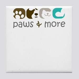 paw and more Tile Coaster