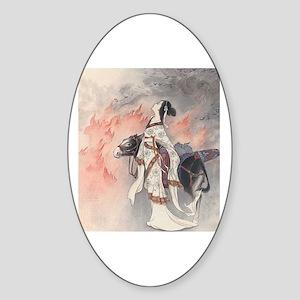 AsianArt Oval Sticker