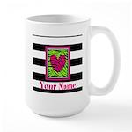 Custom Pink Green Zebra Heart Mugs