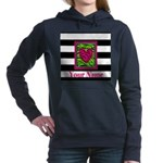 Custom Pink Green Zebra Heart Women's Hooded Sweat