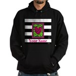 Custom Pink Green Zebra Heart Hoodie