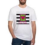 Custom Pink Green Zebra Heart T-Shirt