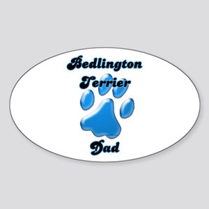 Bedlington Dad3 Oval Sticker