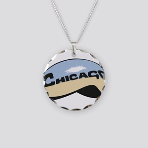 Chicago Bean Necklace Circle Charm