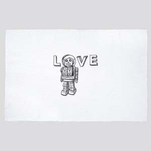 Love Robots Gifts for friends and fami 4' x 6' Rug