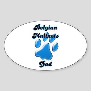Malinois Dad3 Oval Sticker