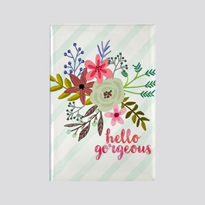 Floral Hello Gorgeous Magnets