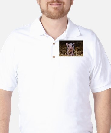 Sweet Cute Pig Golf Shirt