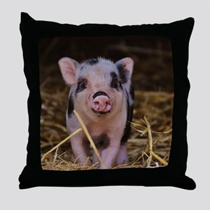Sweet Cute Pig Throw Pillow