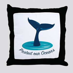 Protect Oceans Throw Pillow